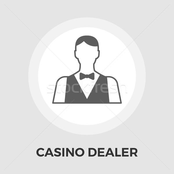 Kaszinó kereskedő ikon vektor izolált fehér Stock fotó © smoki