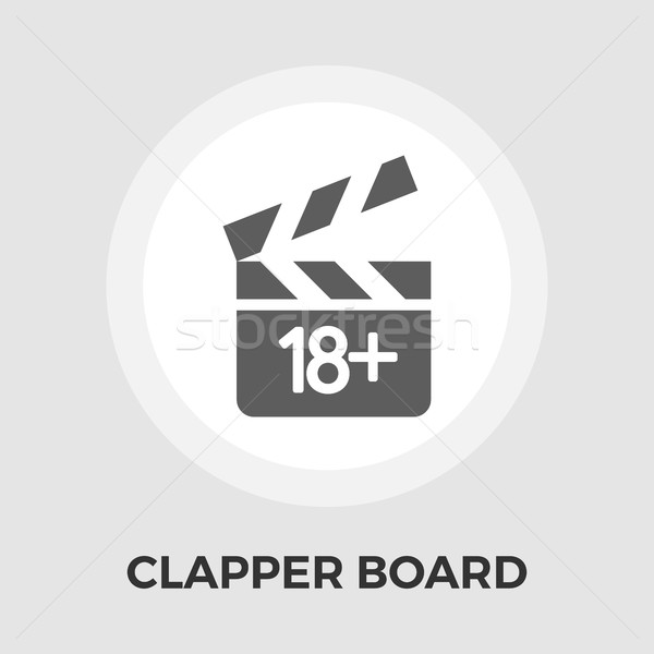 Director clapperboard flat icon Stock photo © smoki