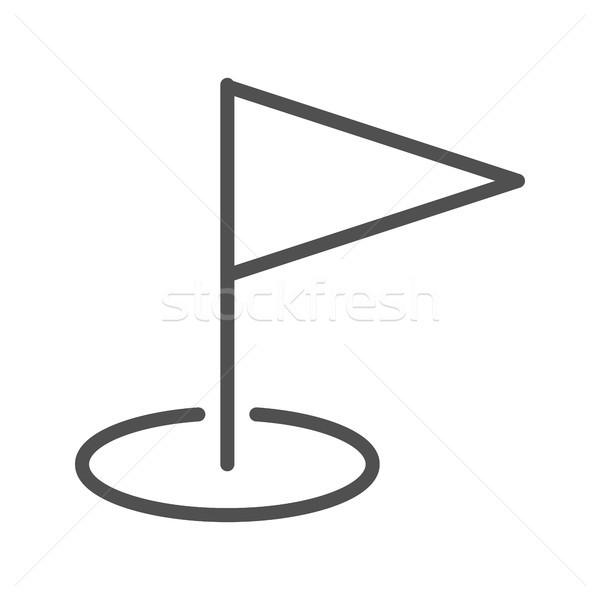 Hedef hat ikon ince vektör yalıtılmış Stok fotoğraf © smoki