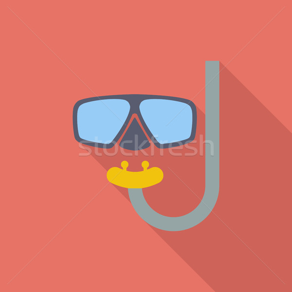 Buceo icono vector largo sombra web Foto stock © smoki