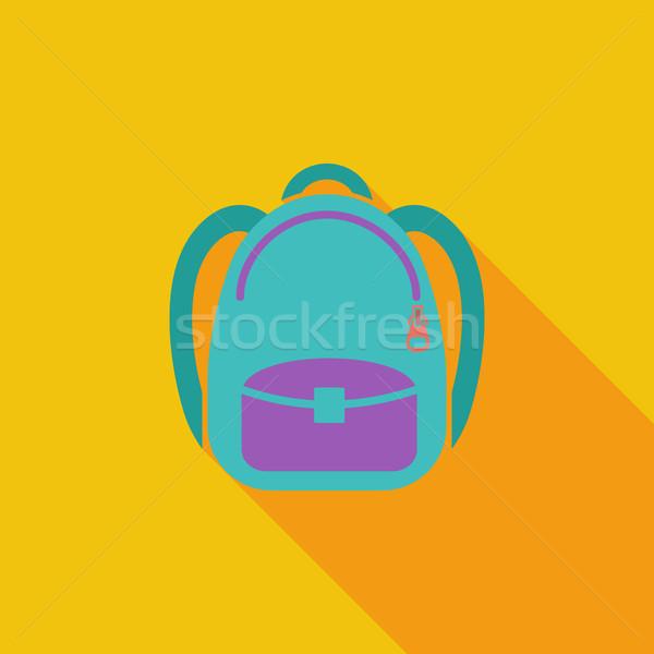 Schoolbag icon Stock photo © smoki