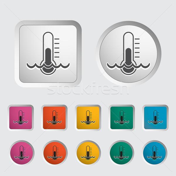 Termômetro ícone eps médico assinar vermelho Foto stock © smoki