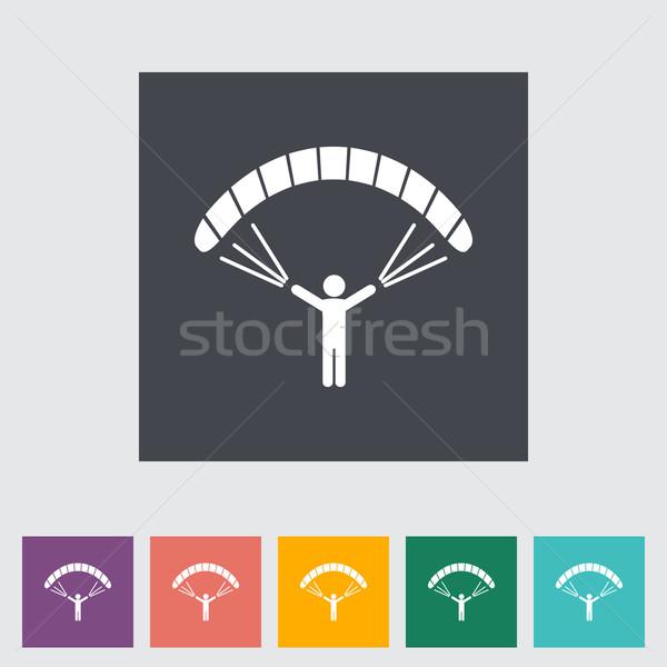 Sport fitnessz sziluett szabadság szél légy Stock fotó © smoki