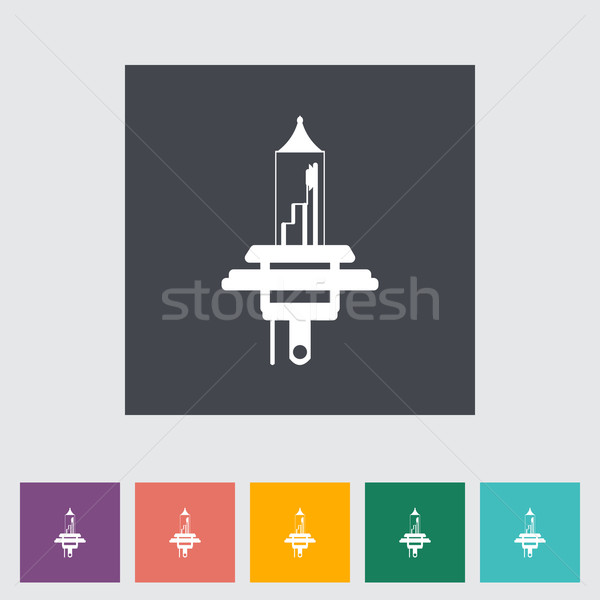 Xênon carro lâmpada ícone pintar assinar Foto stock © smoki