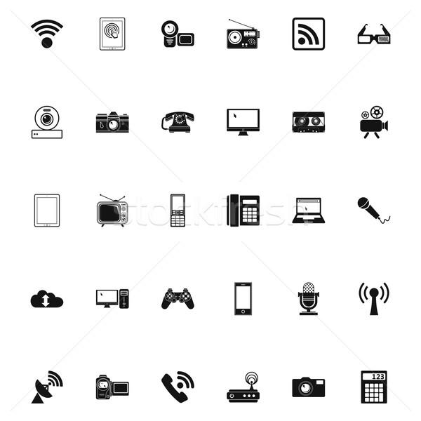 Devices icons. Stock photo © smoki