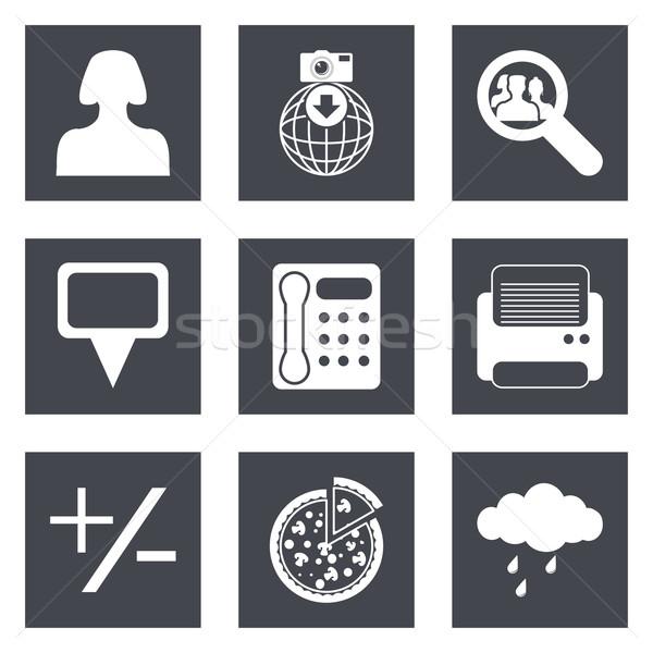 Icons for Web Design set 49 Stock photo © smoki