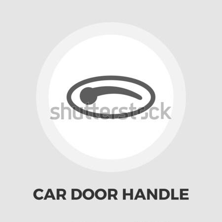 Coche puerta manejar icono blanco diseno Foto stock © smoki