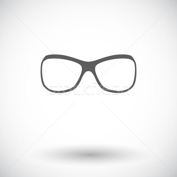 Солнцезащитные очки икона белый глаза лице солнце Сток-фото © smoki