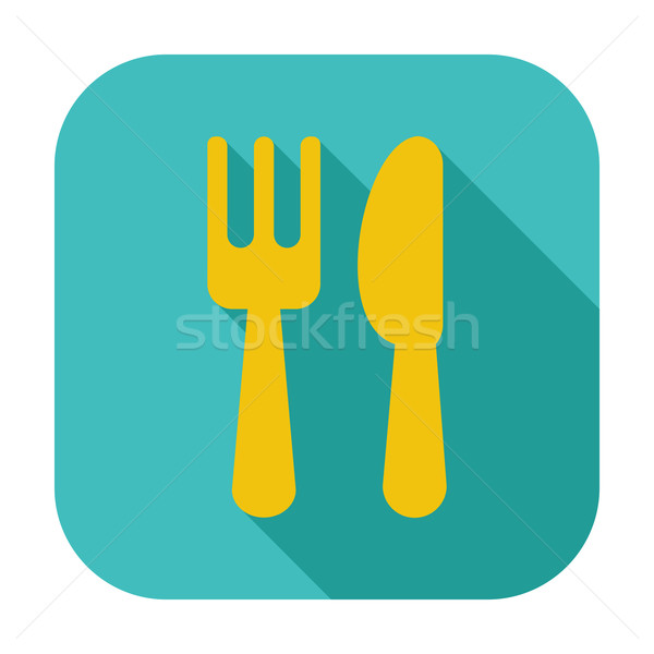 Cutlery single icon. Stock photo © smoki