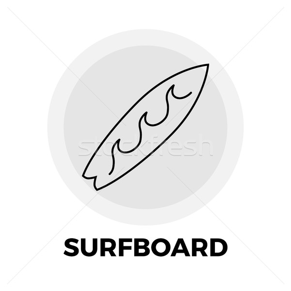 Szörfdeszka vonal ikon vektor kép tárgy Stock fotó © smoki