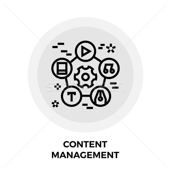 Contenu gestion ligne icône vecteur image Photo stock © smoki