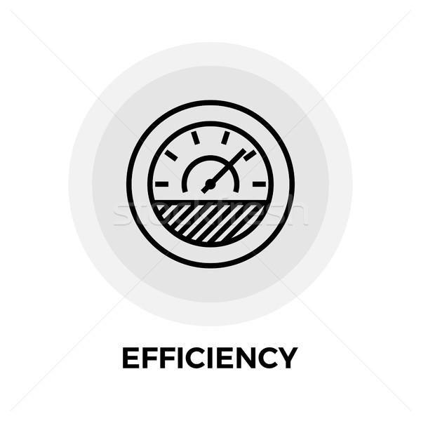 Rendement lijn icon vector geïsoleerd witte Stockfoto © smoki
