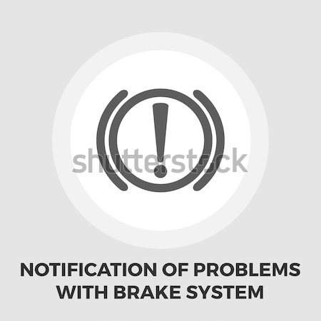 Notification of problems with the brake system icon flat Stock photo © smoki