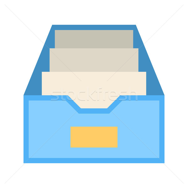File Cabinet Flat Vector Icon Stock photo © smoki