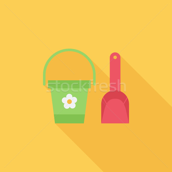 Pail and shovel Stock photo © smoki