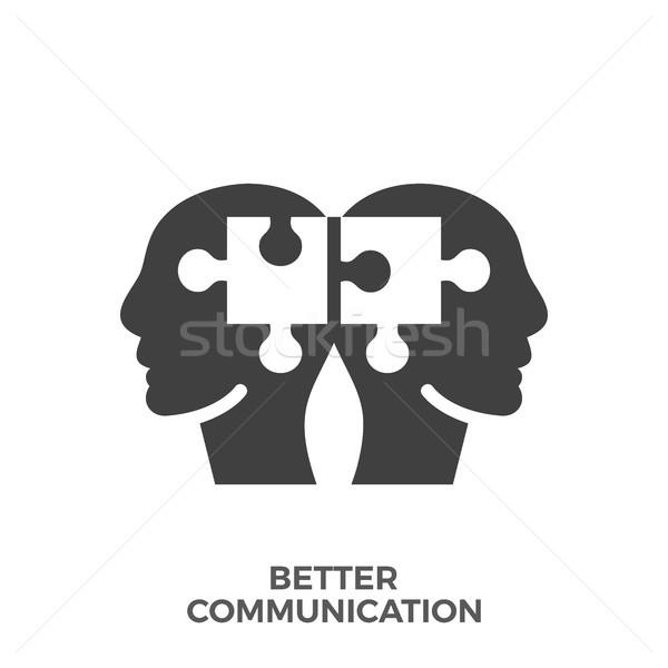 Jobb kommunikáció vektor ikon izolált fehér Stock fotó © smoki