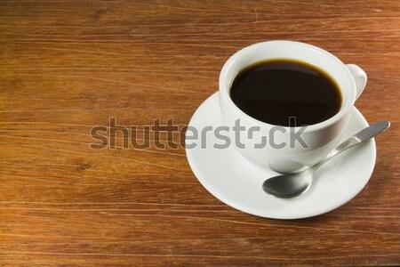 Сток-фото: кофе · деревянный · стол · идеальный · завтрак · таблице