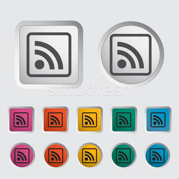 Rss ikona Internetu wiadomości pomarańczowy sieci Zdjęcia stock © smoki