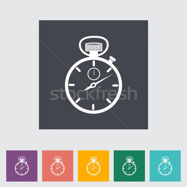 Stopwatch flat icon. Stock photo © smoki
