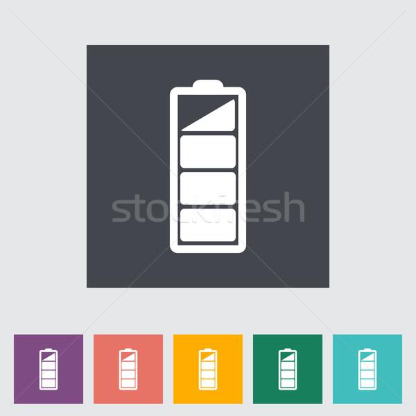 Charging the battery, flat single icon. Stock photo © smoki