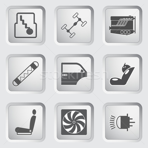 Car part and service icons set 3. Stock photo © smoki