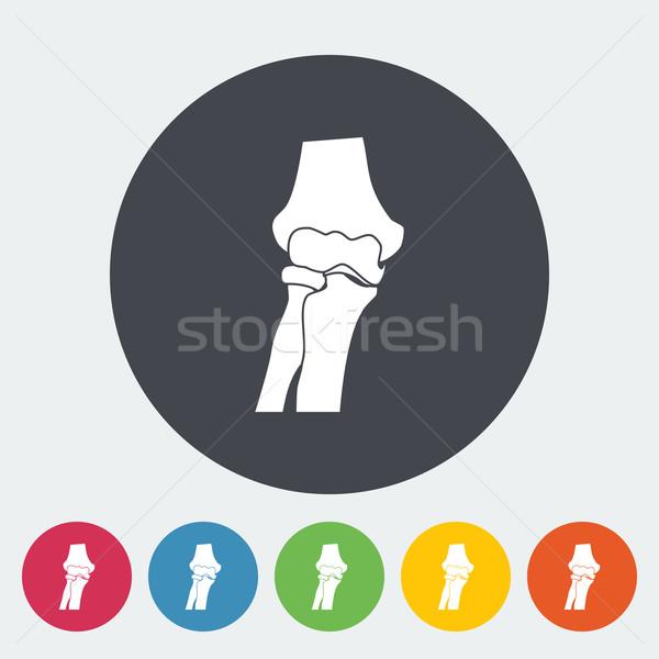 Ikon daire sağlık tıp boyama siyah Stok fotoğraf © smoki