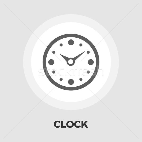 Stok fotoğraf: Saat · ikon · vektör · yalıtılmış · beyaz · düzenlenebilir