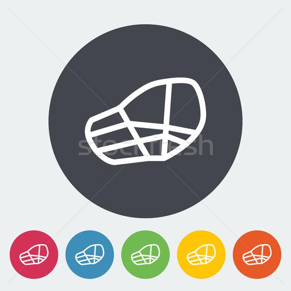 Torkolat ikon vektor háló mobil applikációk Stock fotó © smoki