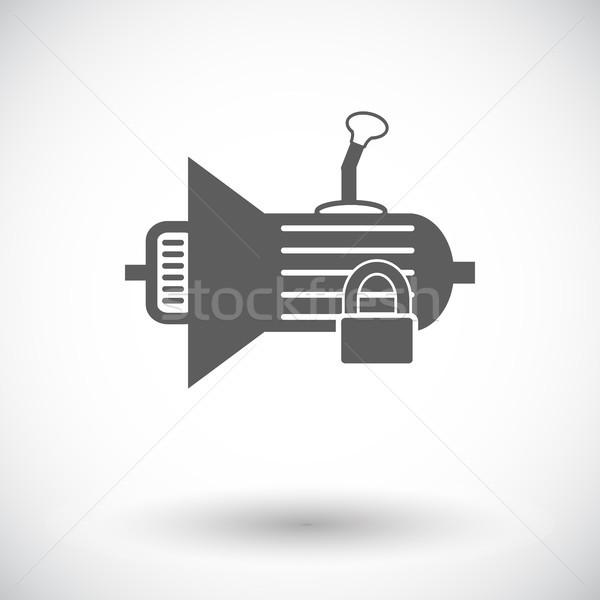 Ikon dişli beyaz siyah hizmet araç Stok fotoğraf © smoki
