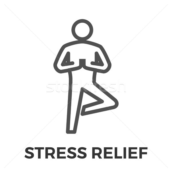 Stress relief thin line vector icon Stock photo © smoki