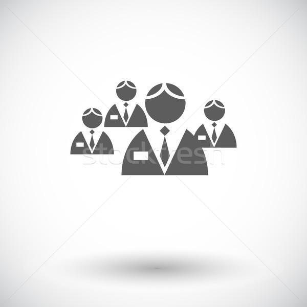 Netwerk icon witte teken mannen web Stockfoto © smoki