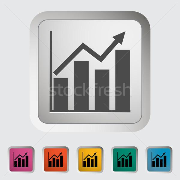 Grafiek icon kunst bar Blauw Rood Stockfoto © smoki