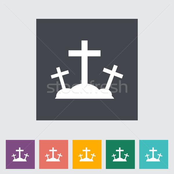 Calvary single flat icon. Stock photo © smoki