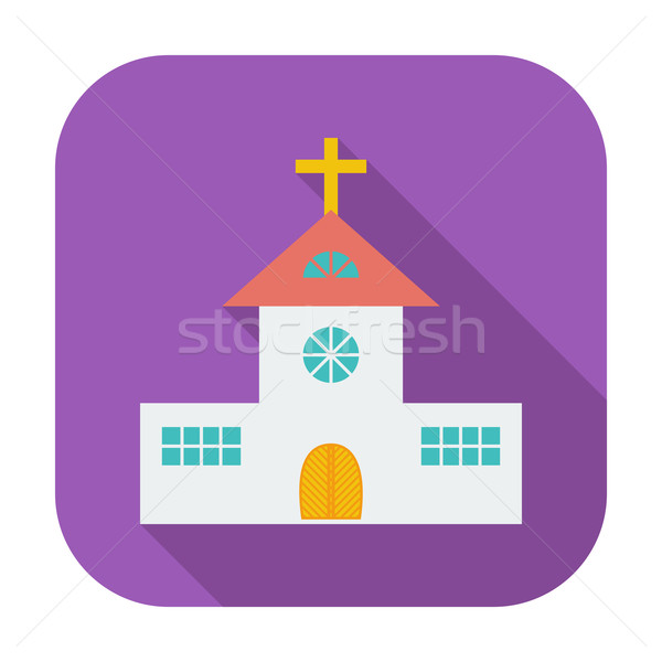 Church single flat icon. Stock photo © smoki