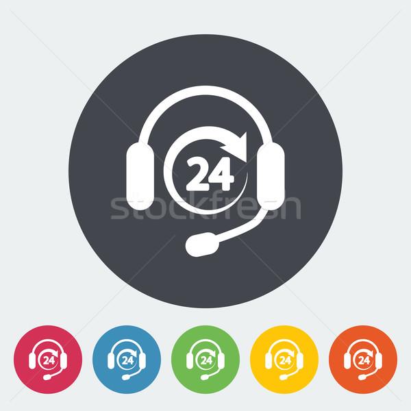 поддержки 24 икона кнопки интернет технологий Сток-фото © smoki