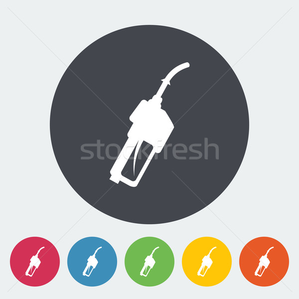 Refueling nozzle icon. Stock photo © smoki