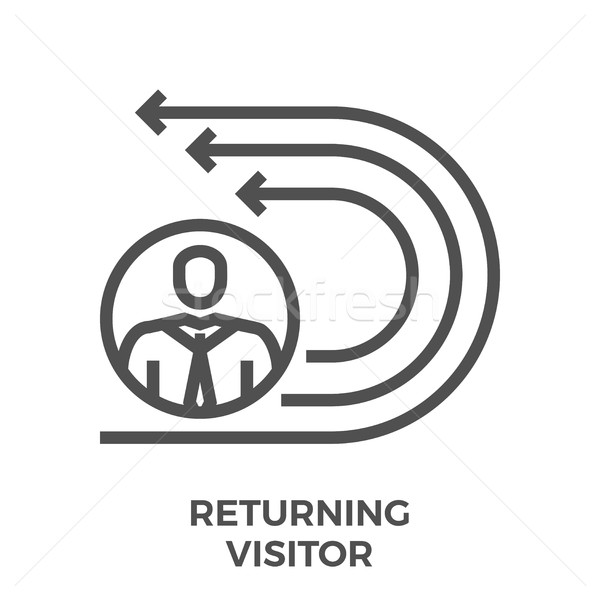Returning visitor line icon Stock photo © smoki