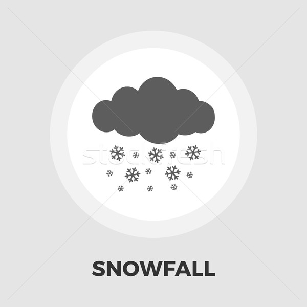 Snowfall flat icon Stock photo © smoki