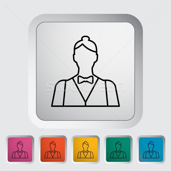 жить дилер икона кнопки женщины дизайна Сток-фото © smoki