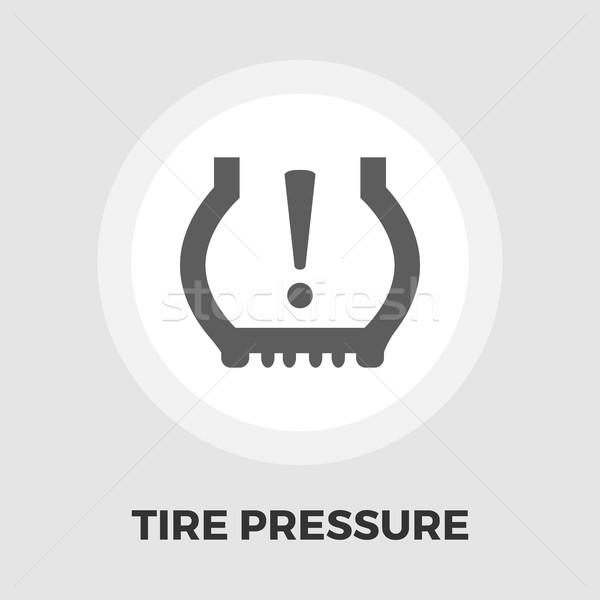 Tire Pressure icon flat Stock photo © smoki