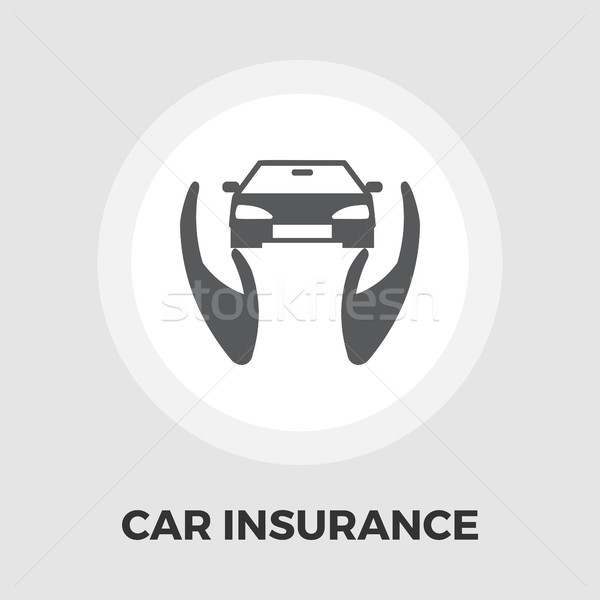 Concept car insurance flat icon Stock photo © smoki
