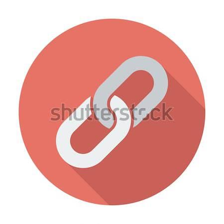 Láncszem ikon vektor hosszú árnyék háló Stock fotó © smoki