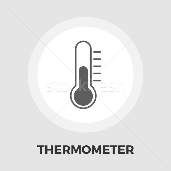 Thermometer icon vector geïsoleerd witte Stockfoto © smoki