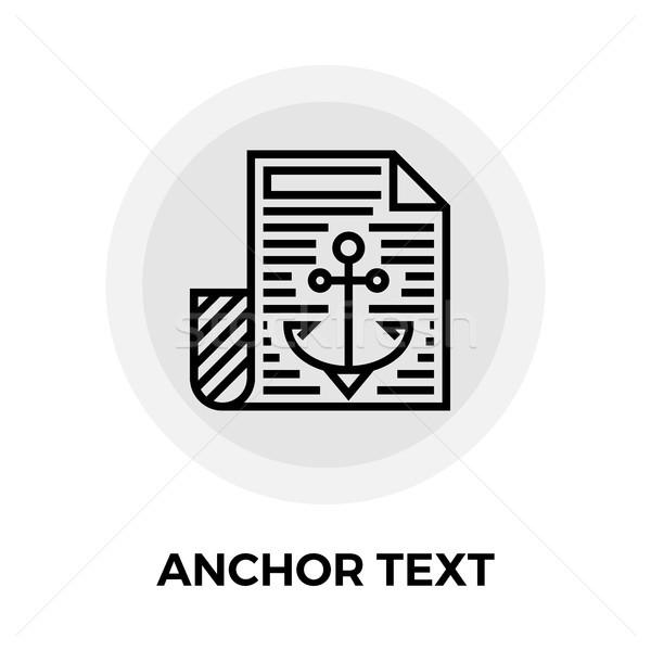 Anchor Text Icon Stock photo © smoki