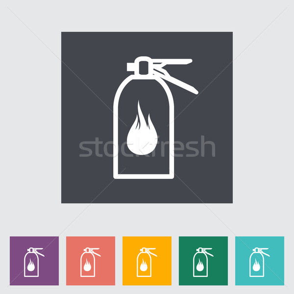 Fire extinguisher flat icon. Stock photo © smoki