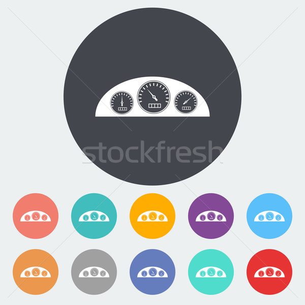 Ikon műszerfal kör sport felirat sebesség Stock fotó © smoki