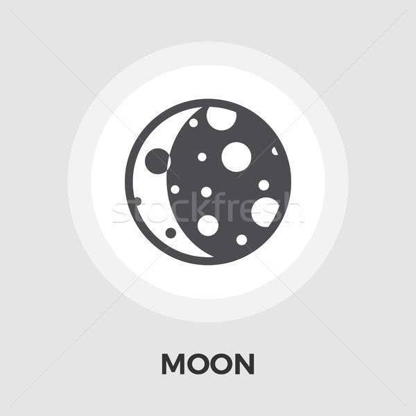 Moon flat icon Stock photo © smoki