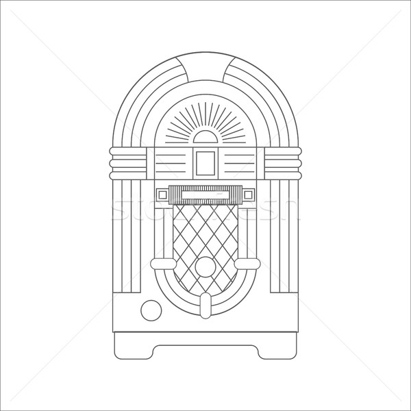 Jukebox Flat Icon Stock photo © smoki