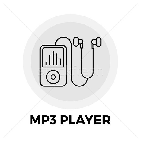 Mp3-плеер линия икона вектора изображение объект Сток-фото © smoki