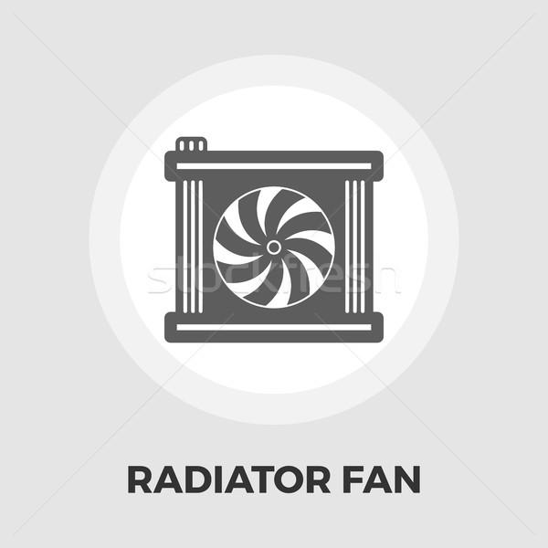 Radiatore fan icona vettore isolato bianco Foto d'archivio © smoki